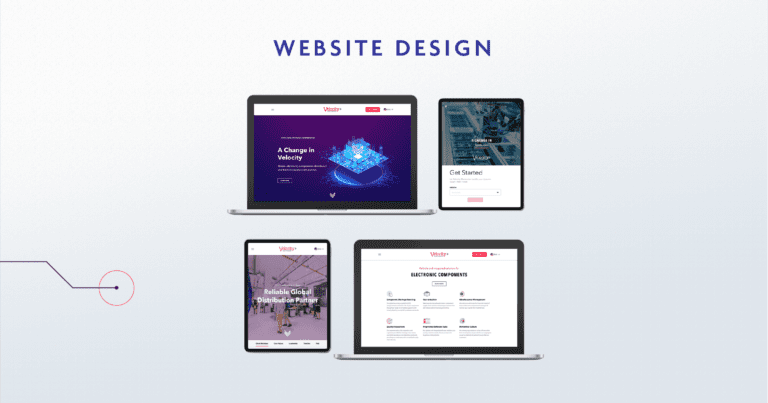 web page design for Velocity Electronics Locations